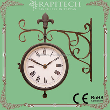 Double Sided Decorative Garden Metal Wall Clock