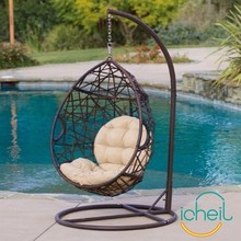Outdoor/Indoor Cheap European Style Rattan Hanging Swing Egg Chair