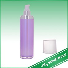 Chinese factory Empty square plastic bottle antique bottles with lids acrylic cosmetic bottle