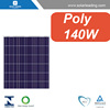 IEC certificated 140w solar cell pv modules with pv junction box for Chile market