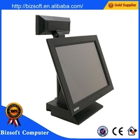 DZ-A518 cheap advertising touch pos system With customer display
