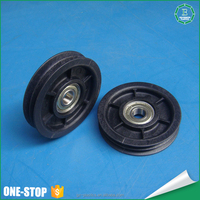 Factory price custom made spare part high precision sheave pulley (black)