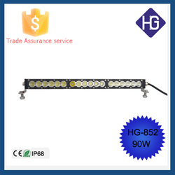 Amber/White 90W 19 inch LED Combo Light Bar Motor Jeep Fog Driving 4WD SUV Car