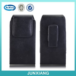 China supplier PU leather cell phone pouch for iphone 6 with swivel belt clip