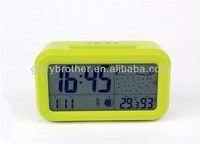 weather forecast lcd alarm clock with adjustable backlight,temperature, humidity functions