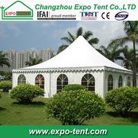 10x10 canopy tent in backyard garden