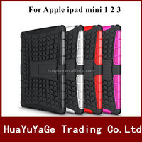 Hybird TPU&PC Kickstand Combo phone cases cover for Apple ipad mini 1 2 3