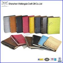 PU de cuero cuaderno con un toque suave y precio razonable