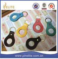 christmas gifts free laser logo promotion key chain with leather keychain pendant