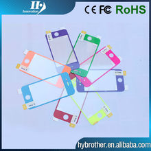 Colorful tempered glass screen protector/ for iphone 5 screen protector
