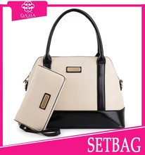 HOTSALE !! High quality leather handbags trendy leather shoe and bag set,2015-latest fashion handbags