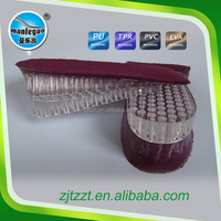 Clear silicone height increase insole OEM availible Soft plastic gel shoe insoles for high sole shoes
