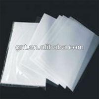 coated transparent pvc plastic overlay film with glue
