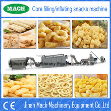 MACH CE certified corn filled/jam center snack food processing line/snake food machine