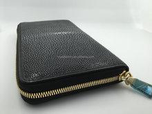 Viya Jewelry Wallet Genuine Stingray Skin Men's Wallet All Black