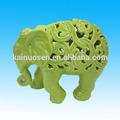 elefante de cerámica estatuilla para la decoración del hogar