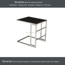 T-009S# Designer Side Table Coffee Table Genuine Steel Solid Table Square Train Robust