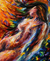 canvas women knife sex hot beautiful girl oil painting