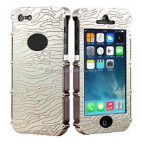 Showkoo Armor Series Hand Carved Aluminum Metal Bumper + Genuine Leather Case