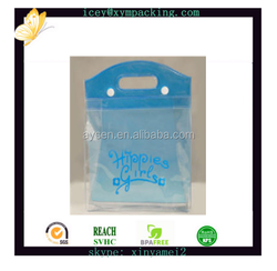 Pvc bag with button packaging household textile bag