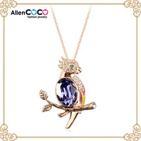 Hot selling Crystal Necklace with Parrot Shape necklace for women fashion jewelry