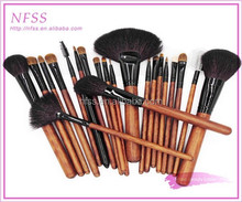 custom logo brush wood 21pcs makeup brush set cosmtic bag wholesale