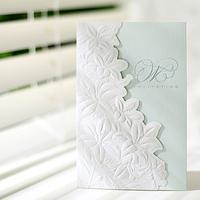 Fashionable and Elegant design wedding invitation with cut
