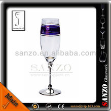sliver driking champagne glass with pearl stem