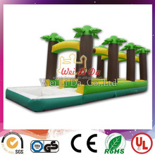 Commercial exciting special design giant custom inflatable slide with tree