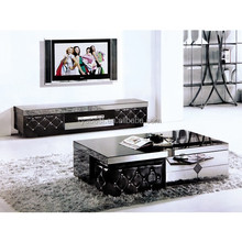 stool modern center glass coffee table furniture set
