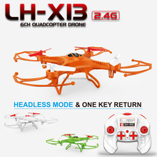High Quality Toys LH-X13 2.4G 4CH 6 Axis Gyro Hover Flying RC Quad Copter Toys with Auto Return Quad Copter for Kids