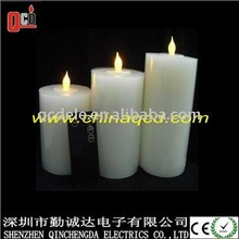 different size multi-color led wax candle