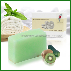 Cucumber Kiwi Brightening natural organic Handmade soap