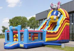 Factory outlet fine craftsmanship giant inflatable slip n slide/inflatable slide jumper with elephant