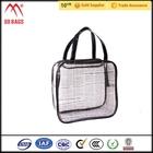 Design clássico saco de cosmética organizador tas kosmetik murah limpar vinil saco de cosmética