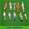 scale 1:30 ABS plastic material model figure for architectural scale model figure