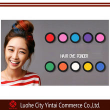 2014 new kind hot selling 6/12/24/36colors tempory hair chalk,south korea hair chalk hair dye/color