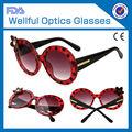 venta al por mayor de china popular en el verano de nombre de marca de gafas de sol para damas