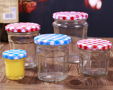 unique empty clear glass jam sauce jar glass food canning jar glass food container china factory