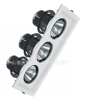 3*25w tripple heads led grille light square shape embedded ceiling grille panel light fixture