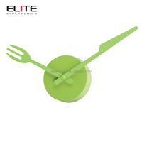 knife and fork decoration wall timer kitchen clock