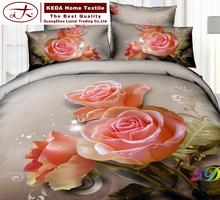 China brand designer home decor 133*72 reactive fabric 4 piece bed sheet set 100% cotton bedcover