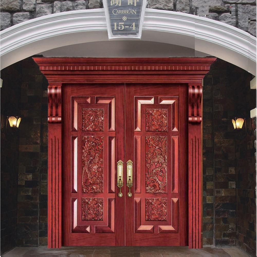 Puertas de madera de entrada principal puerta madera for Doble puerta entrada casa