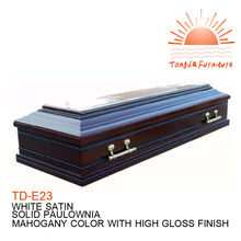 TD-E23 newly designed European style solid wood coffin