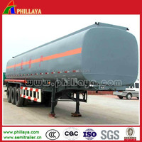 three BPW axles vacuum tank trailer to transport oil or others with air suspension optional