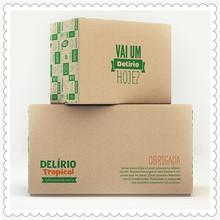 Caja de regalo de envases de cartón, impresión de la caja de papel
