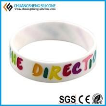 Custom reflective promotion gift silicone bracelet