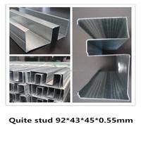 92*0.55bmt Quiet Stud&Australia system gypsum drywall metal stud