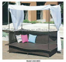 PE Rattan Outdoor Chaise Lounge Furniture Wholesale with Lowest Price from UGO Manufactuer