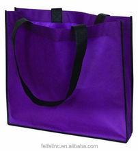 Promotional durable PURPLE non woven handle shopping BAG